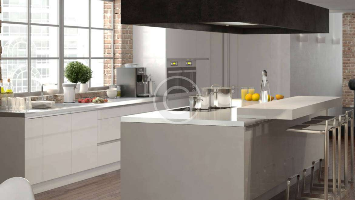 Wood & Stone Combimed for an Urban Style Kitchen